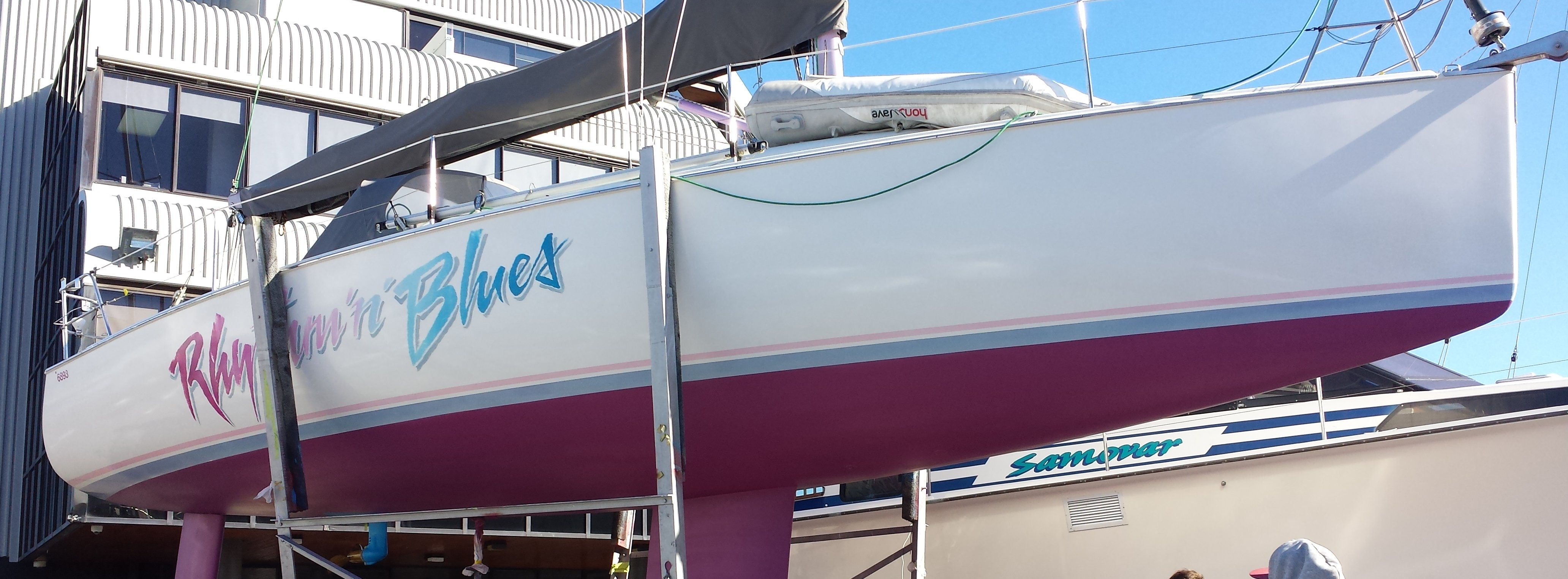 yacht after antifouling